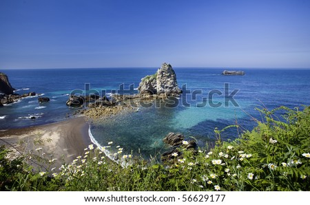 Spanish wild beach - stock photo