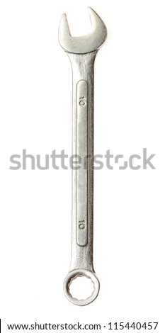 Spanners isolated on the white - stock photo