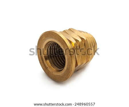Spare part of motorcycle,bolt nut screw for decorating and maintenance on white background - stock photo