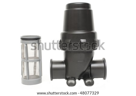 spare parts- filter - stock photo