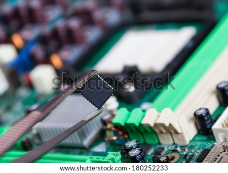 spare parts for repair of electronic devices - stock photo