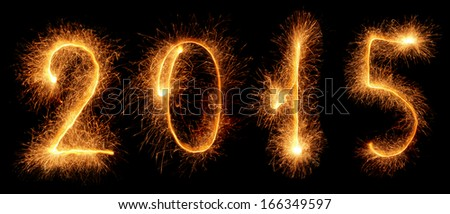 Sparkler. New year 2015 - stock photo