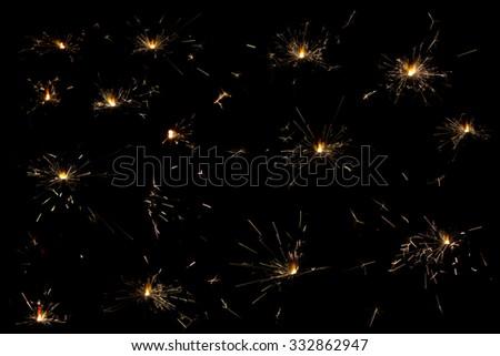 sparklers samples 1 - stock photo