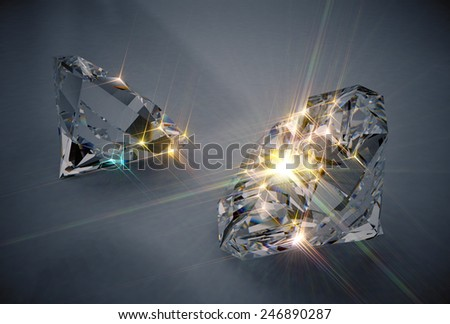 Sparkling Diamonds - stock photo