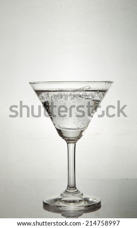 Sparkling mineral water - stock photo
