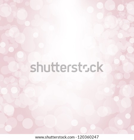 Sparkling pink seasonal holiday background with white lights. - stock photo