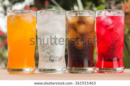 sparkling water in a glass - stock photo