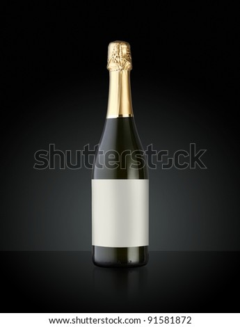 Sparkling White Wine Bottle, Champagne bottle - stock photo