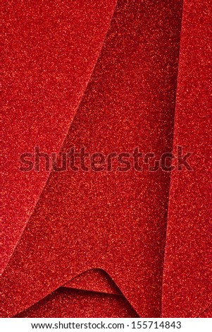 Sparkly Red Christmas Decor - Sparkly Red Christmas Decor for Wallpaper or Background - stock photo