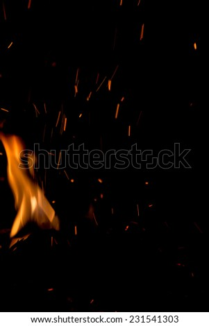 sparks of bonfire night - stock photo
