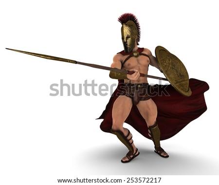 spartan stance 2 - stock photo