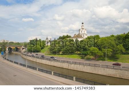 Spaso-Andronikov monastery, Moscow, Russia - stock photo