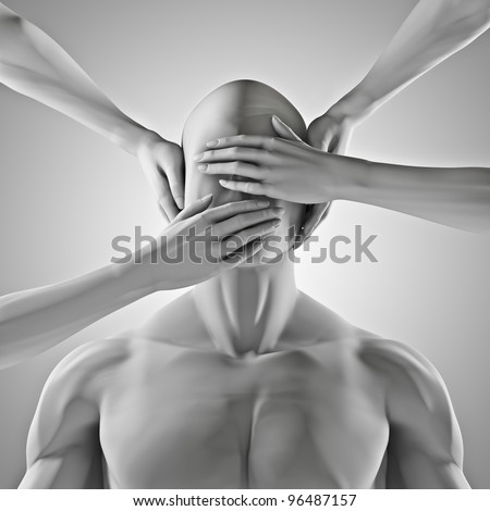 Speak no evil - stock photo