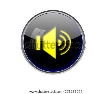 Speaker button. - stock photo