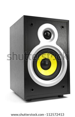 Speaker, isolated on white - stock photo