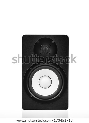 Speaker over white - stock photo