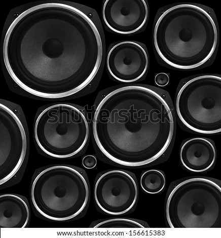 Speakers abstract background - stock photo