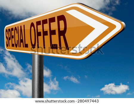 special discount offer exclusive bargain promotion low hot price best value