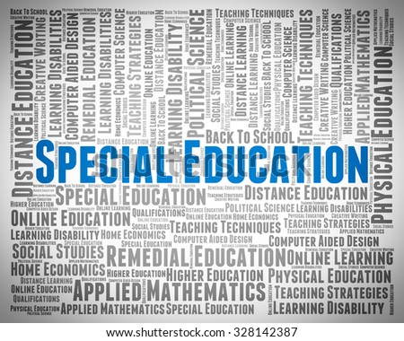 Special Education Indicating Slow Learner And Develop - stock photo