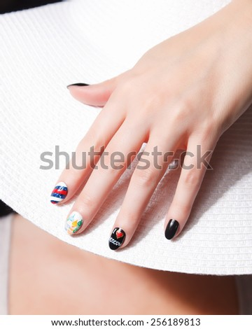 Special international fashion nails - stock photo