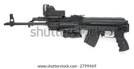 special modification of kalashnikov - stock photo