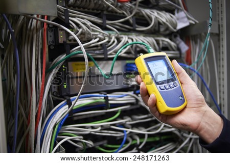 Special network scanner - stock photo