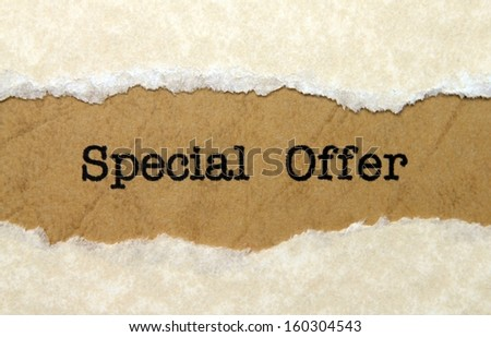 Special offer - stock photo