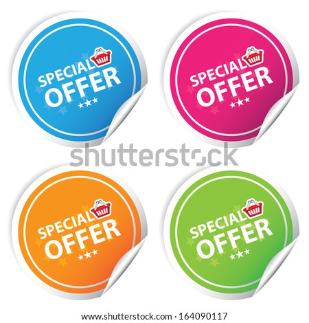 Special offer colorful stickers set.JPG - stock photo