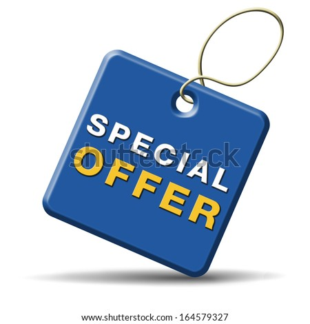 special offer limiter exclusive bargain promotion low hot price best value - stock photo