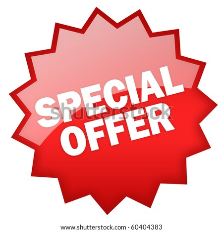 Special offer sticker - stock photo