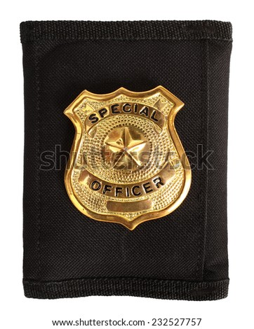 Special officer badge - stock photo