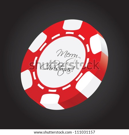 special poker chip - stock photo