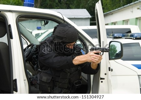 Special police units - stock photo