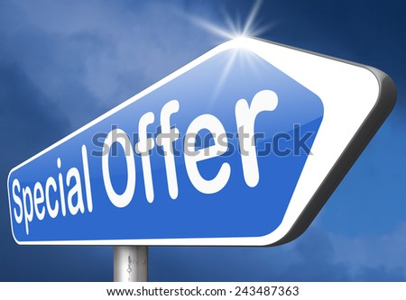 special promotion offer exclusive bargain promotion low hot price best value  - stock photo