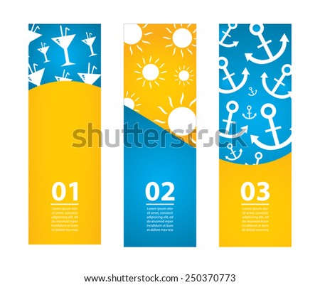 special summer banners - stock photo