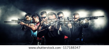 special  tactics team - stock photo