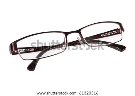 spectacles isolated on white - stock photo