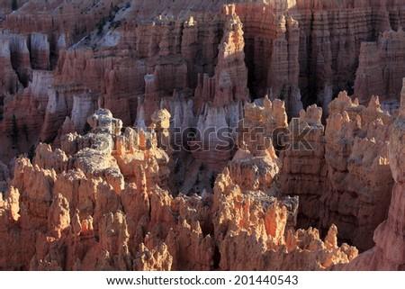 Spectacular rock formations at Bryce Canyon, USA, Circa May 2010 - stock photo