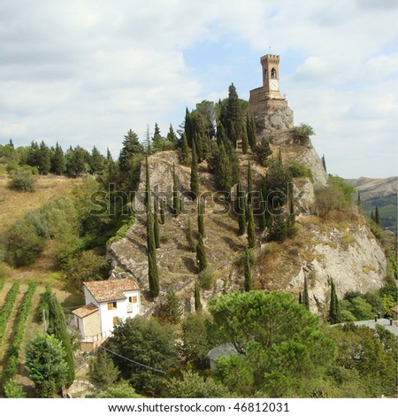 spectacular scenery of Brisighella - stock photo