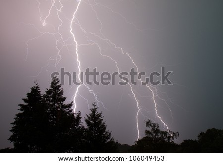 spectacular thunderbolt - stock photo