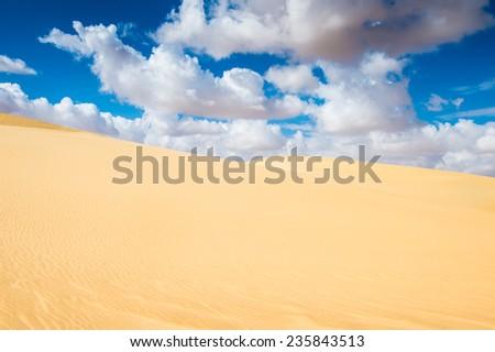 Spectacular view of the Sahara desert, Egypt - stock photo