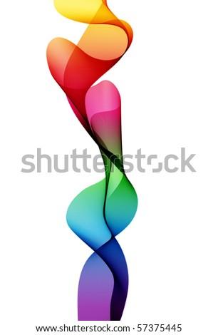Spectrum Ribbon - stock photo