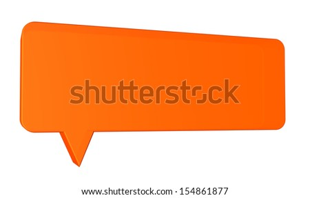 Speech balloon on white background - stock photo