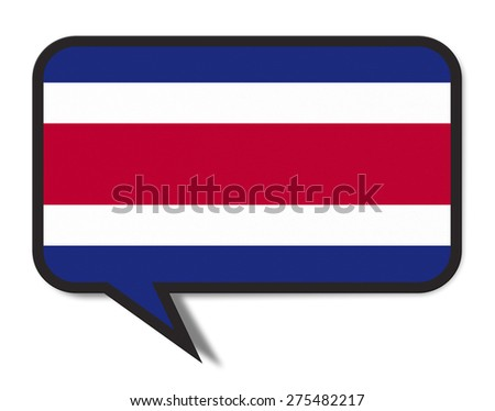 Speech Bubble Flag Concept. Isolated on white background. (clipping path) - stock photo