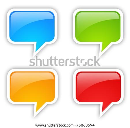 Speech bubble set - stock photo
