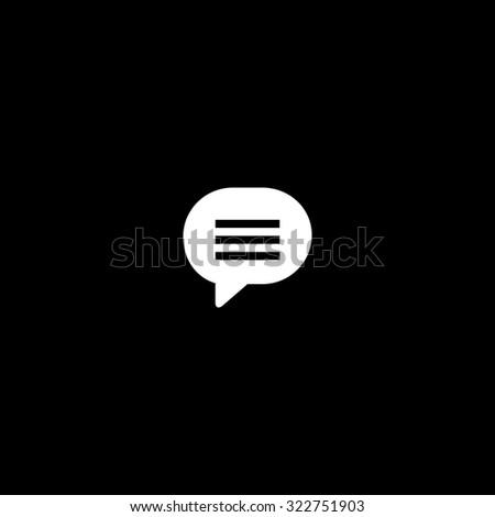 Speech bubble. Simple icon. Black and white. Flat illustration - stock photo