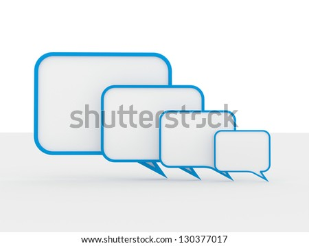 Speech bubbles isolated on white - stock photo