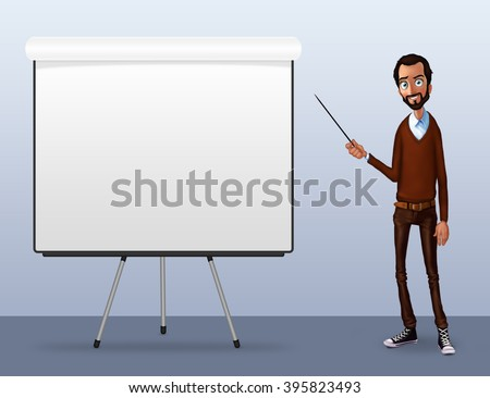 Speech presentation of business product, project, speech at conference. Handsome man wit balloon isolated of website. Storytelling in vector balloon. Set vector isolated illustration balloon with guy. - stock photo