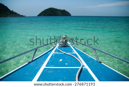 speed boat on the sea - stock photo