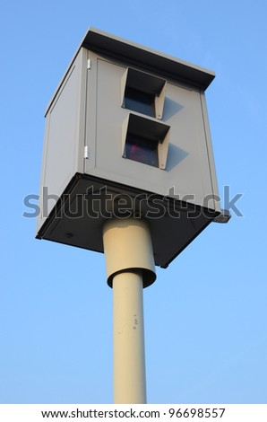 Speed camera - stock photo